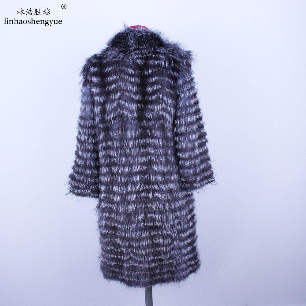 Linhaoshengyue 2018NEW HEIßER fuchs pelz langen mantel Wolle garn ist gefüttert mit weich und bequem futter-in Echtes Fell aus Damenbekleidung bei  Gruppe 2