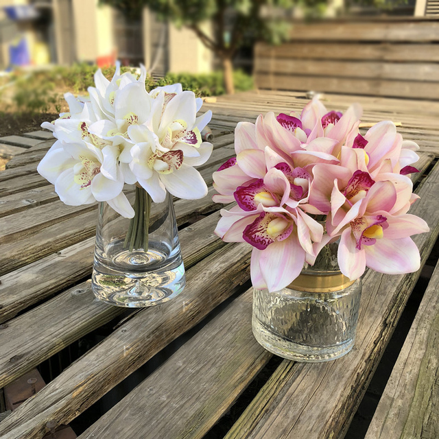 Amazing Us 4 67 5 Off 6 Heads Real Touch Cymbidium Artificial Orchid Shoot Table Decoration Flower Diy Wedding Bride Hand Flowers Home Decor Floral In Download Free Architecture Designs Licukmadebymaigaardcom