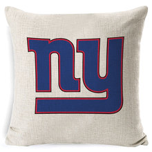 RECOLOUR  Hot sale American football logo Cushion Cover throw pillows Home Decor Pillowcase pillow cover Sofa cojines