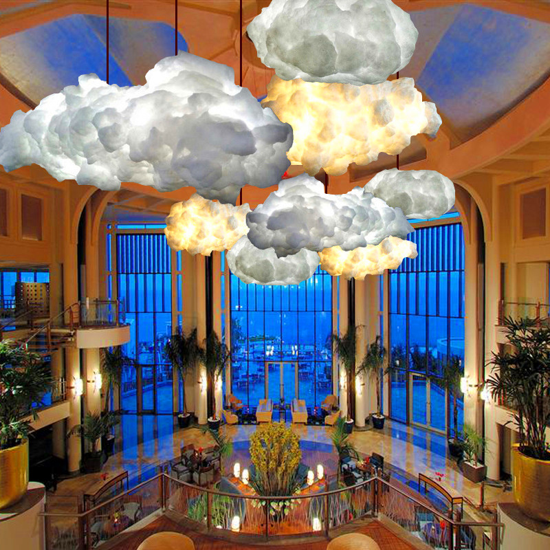 купить Creative chandelier cloud personality Nordic Baiyun decoration living room dining room bedroom children's room chandelier hotel онлайн