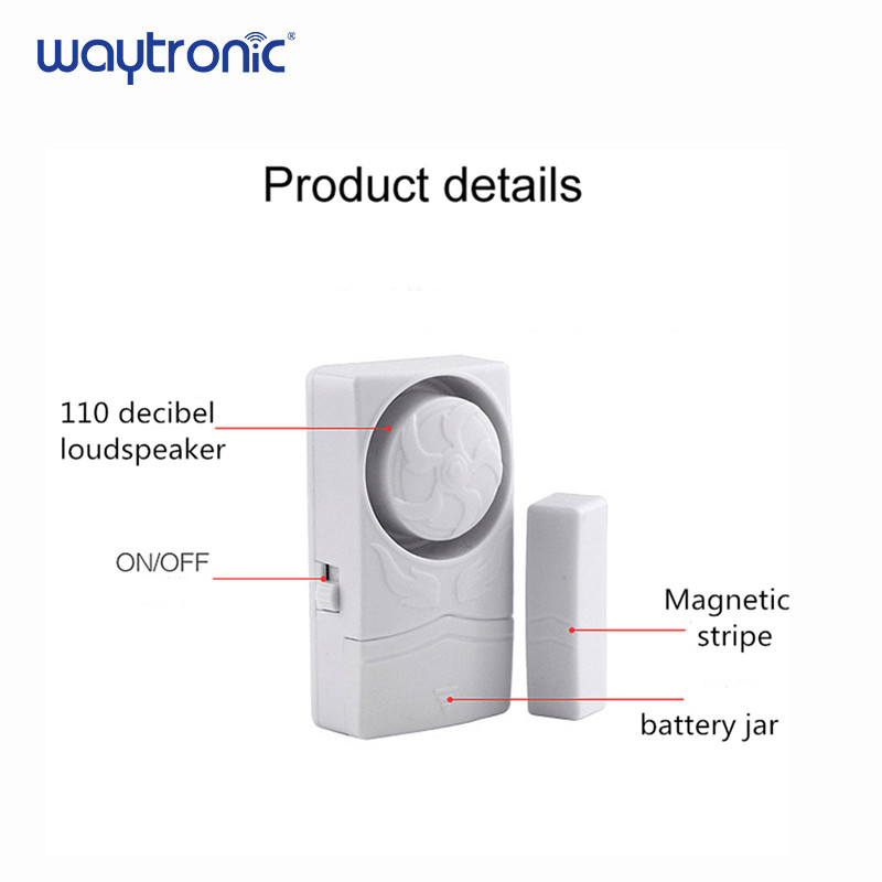 Image 2 - Wireless Door Magnetic Sensor Alarm Door and Window Open Close Reminder Alarm Kit for Supermarket Convenience Store Refrigerator-in Sensor & Detector from Security & Protection