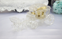 Promo 30pcs/lot Luxury Carriage Sweetbox Vivid Princess Style Candy Case Gift Cases Baby Shower Feast Souvenirs wc159
