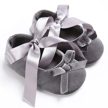 Handmade Soft Bottom Bowknot Baby Shoes Newborn Babies Shoes 3-colors