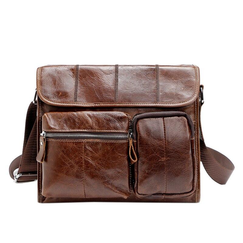 FONMOR Винтаж Для мужчин сумки через плечо масло воск кожаный Для мужчин Портфели Путешествия Сумочка