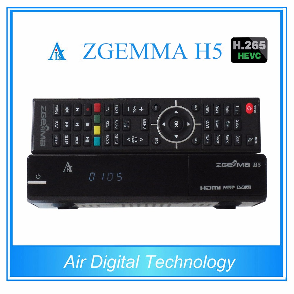 2 pcs/lot ZGEMMA H5 original Enigma2 Linux satellite receiver combo dvb s2 dvb t2/c satellite tv decoder support HEVC/H.265 цены онлайн