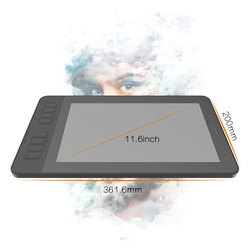 GAOMON PD1161 IPS HD Graphics Drawing Digital Tablet with 8192 Level Pen Pressure Passive Stylus (Black) 3