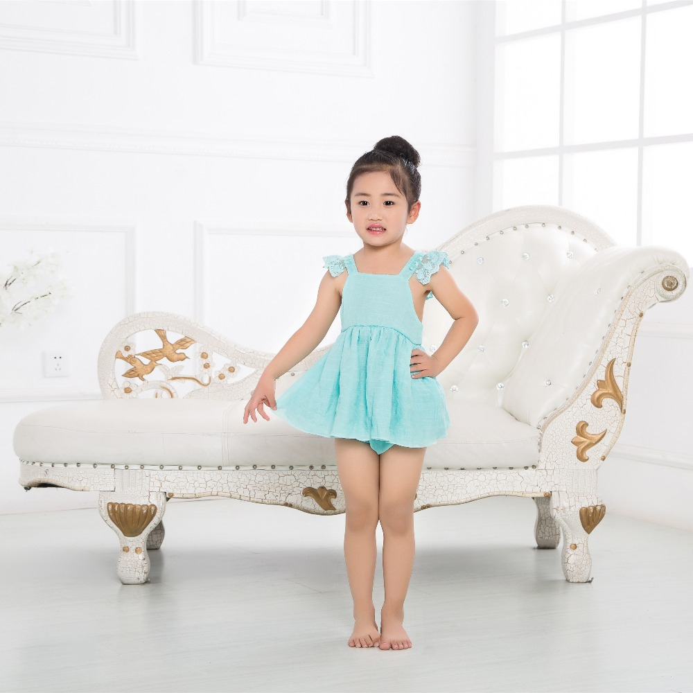 Girls Summer Cute Set Babys Lace Backless Tops + Shorts Sets Sweet Toddles Suspender Sets for 6m-4year Babys Clothes INS Hots