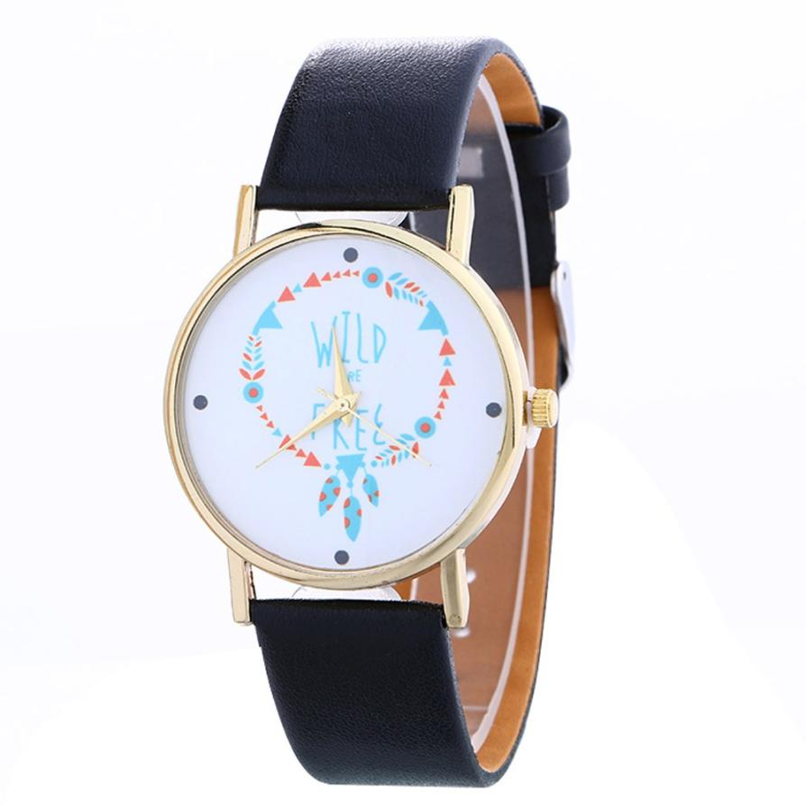 Xiniu women clock Arrow Pattern Casual Leather Strap Quartz women watches horloges vrouwen montre femme#PYYW