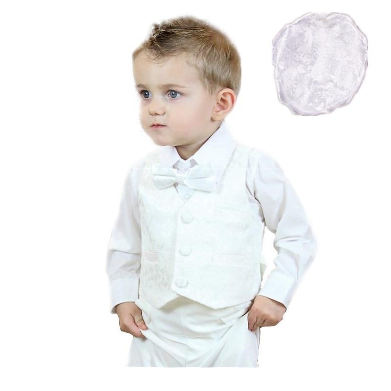 4089a26e2 Recién nacido-24 Meses 100% Algodón bautizo bautismo favorece 5 unidades  Formal ropa set Baby boy trajes de primera comunión