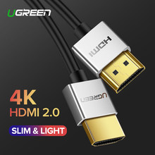 Ugreen 4K HDMI Cable Slim HDMI to HDMI 2.0 Cable for PS4 Apple TV Splitter Switch Box 60Hz Audio Video Cabo Cord Cable HDMI 2.0(China)