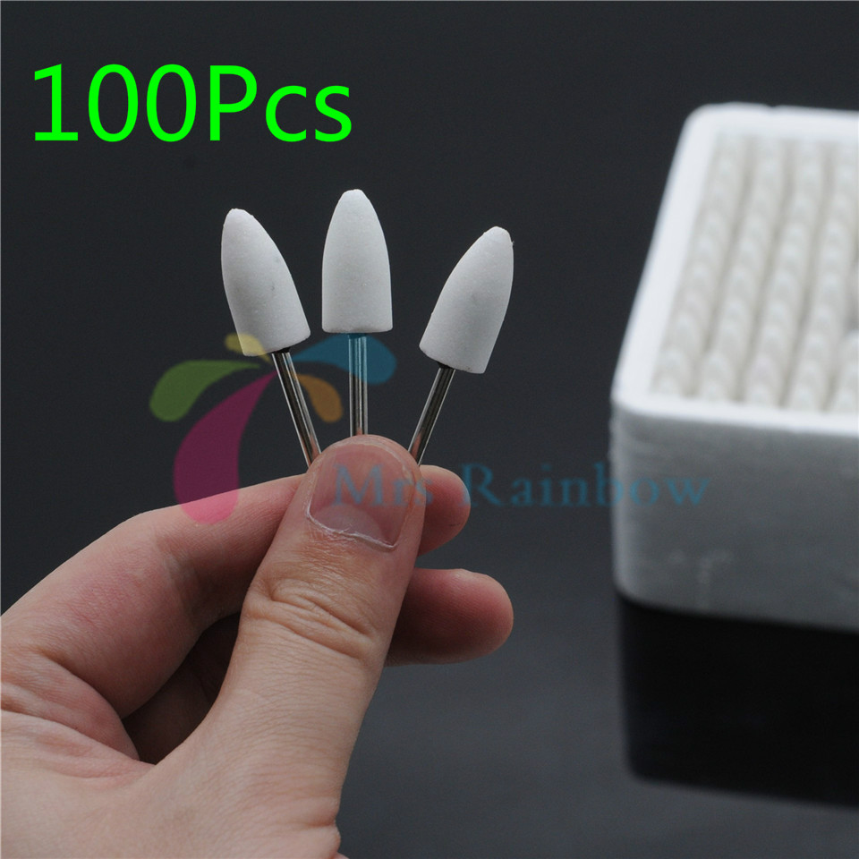 7# 100Pcs Dentist Product Gravel Thick Mounted Point Burs Polisher 2.35mm Assorte