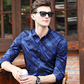 2016 New Men Striped Shirts Autumn Slim Breathable full-Sleeve Man Shirt Formal&Casual Fashion Dress plus size Men's Shirts