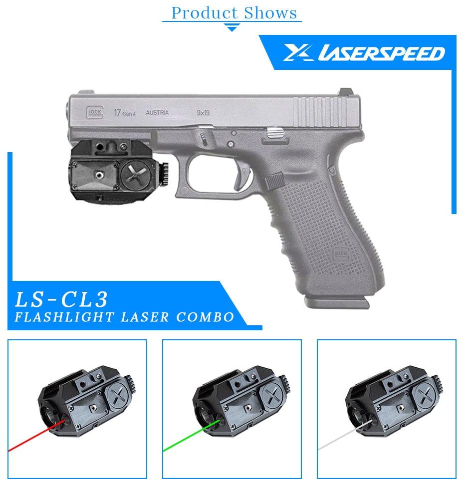 LS-CL3 tactical combo gun lanterna e verde
