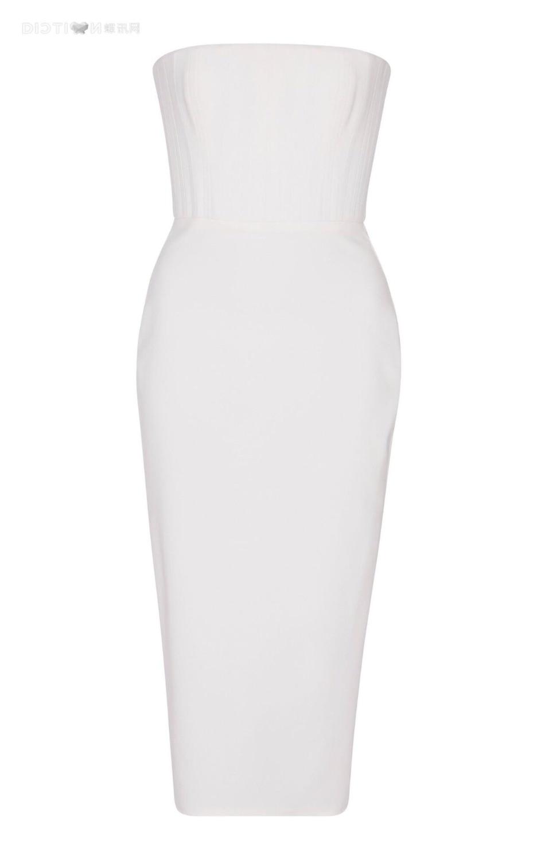 Mode Sans De Gros Qualité Femmes Bretelles Corps Hight Blanc Con Nouveau Robe Fête Celebrity En Style Lacée Backless Soirée Sexy 7dxwP