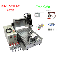 3D CNC Router machine LY3020Z D500W CNC milling and drilling machine with rotary axis free tax to RU