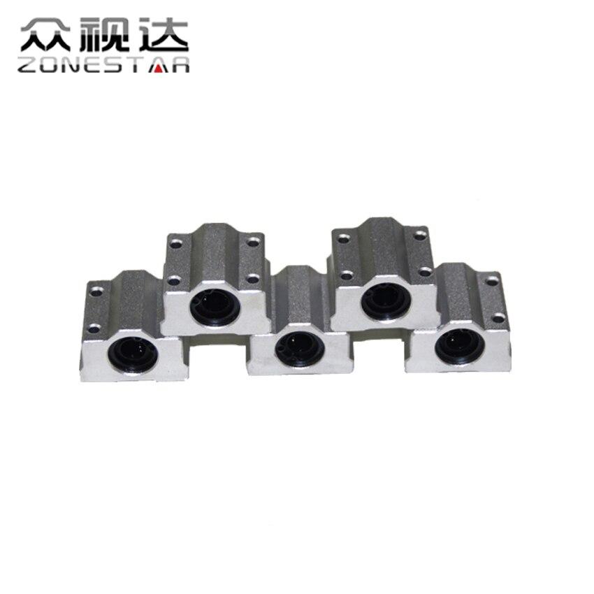 5 unids/lote sc8uu scs8uu 8mm linear ball bearing bloquear cnc router kit de imp