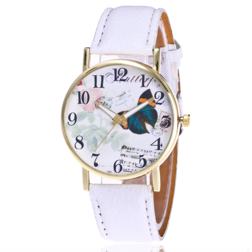 New Arrive Simple Style Famous Brand Quartz Watch Women Casual Leather Watches Clock Reloj Mujeres Feb 22