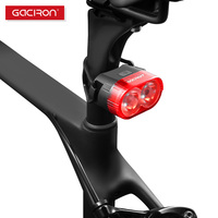 GACIRON 60 Lumen Smart Waterproof Bike Tail Light MTB Road Bicycle Rear Light USB Rechargeable Led Lamp for Flat/Round Seatpost