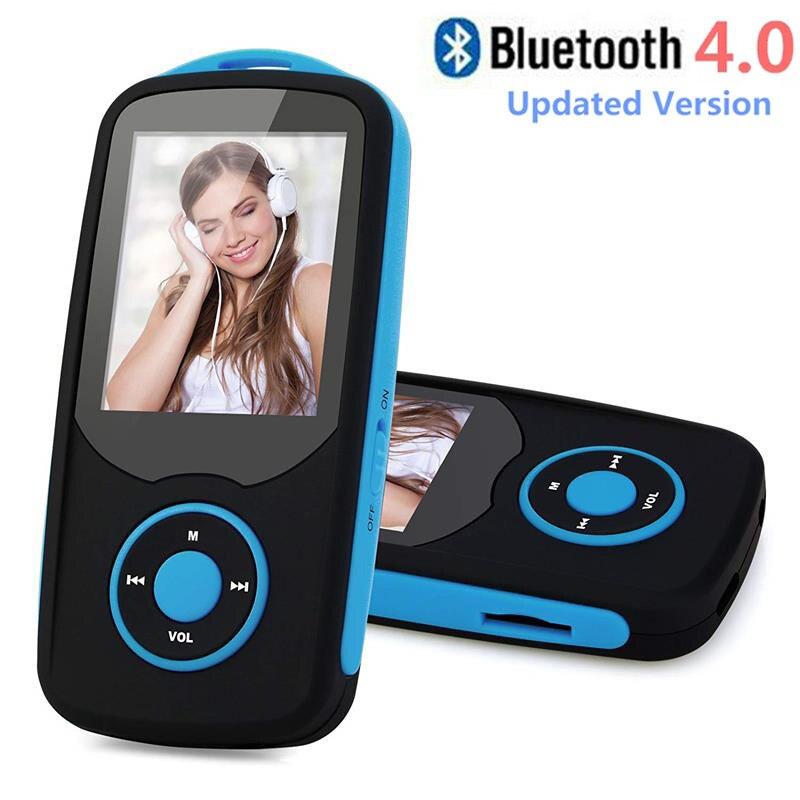 MP3 Lecteur avec Bluetooth4.0 1.8 pouce Couleur Menu Écran Sans Perte MP3 Lecteur de Musique avec FM Radio, enregistrement vocal + Lanière Libre