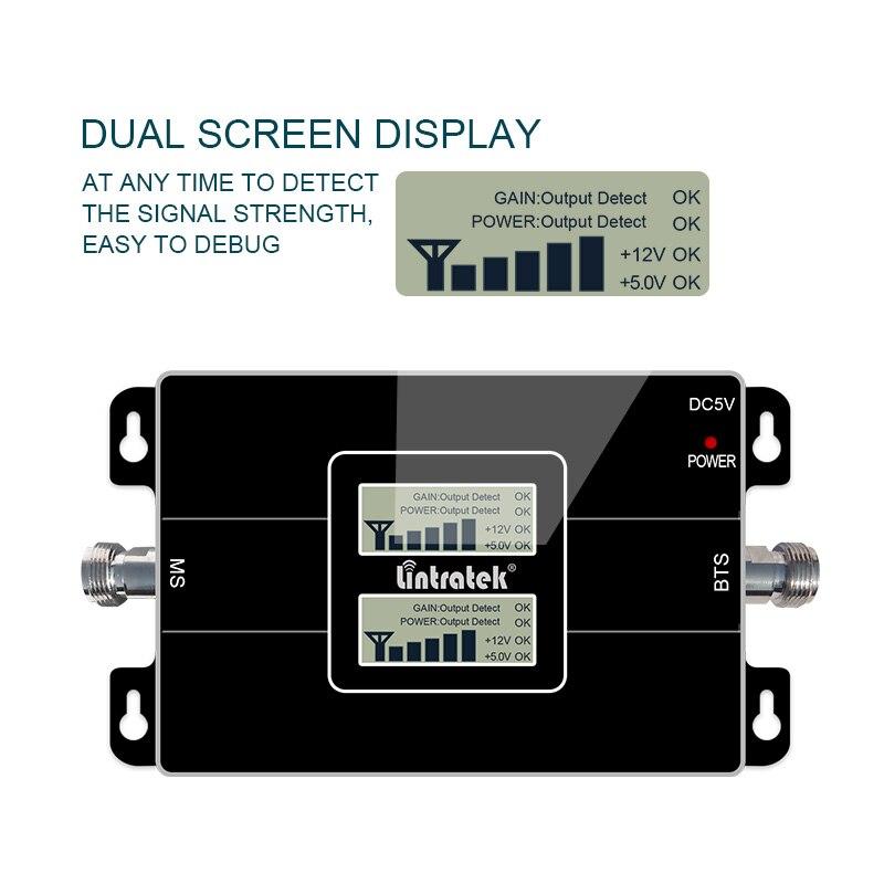 Lintratek 2G 3G GSM 900 WCDMA 2100 double bande répéteur de Signal de téléphone portable GSM 3G UMTS amplificateur de Booster cellulaire @ 4.4 - 4