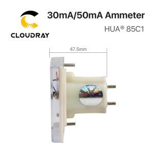 Image 3 - Cloudray 30mA 50mA Ammeter HUA 85C1 DC 0 30mA 0 50mA Analog Amp Panel Meter Current for CO2 Laser Engraving Cutting Machine