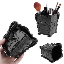Fashion New Design Acrylic Makeup Cosmetic Storage Box Case Brush Holder  Pen Organizer Decorative 4 Colors