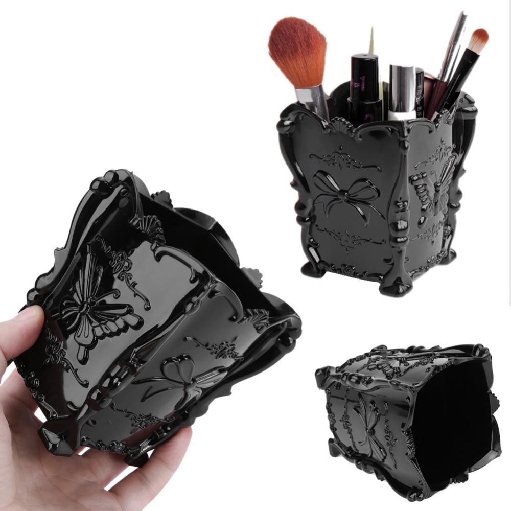 Fashion New Acrylic Makeup Cosmetic Storage Box Case Brush Holder Pen Organizer Jewelry Case Makeup Brush Storage Box Holders