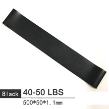 50cm Home Fitness Resistance Bands Black Rubber Loop Pilates Gym Strength BodyBuilding Training Athletic Expander Yoga Expander цена