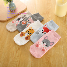 2019 Summer 3D Kawaii Animal Paws Feel Women Ankle Sock Cotton Comfortable Intimates Fashion Personality Socks