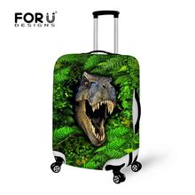 Free Shipping Dinosaur Travel Luggage Protective Covers,Elastic Stretch Waterproof Suitcase Cover for For 18 to 30 inch case(China)