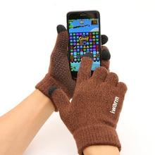 Bigsweety Unisex Men Knitted Gloves Anti-slip Touch Screen G