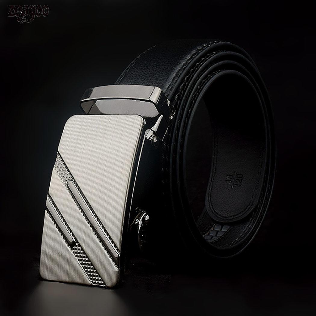 Men Black Automatic Buckle   Belts   Fashion Solid Waist Strap   Belt   Waistband