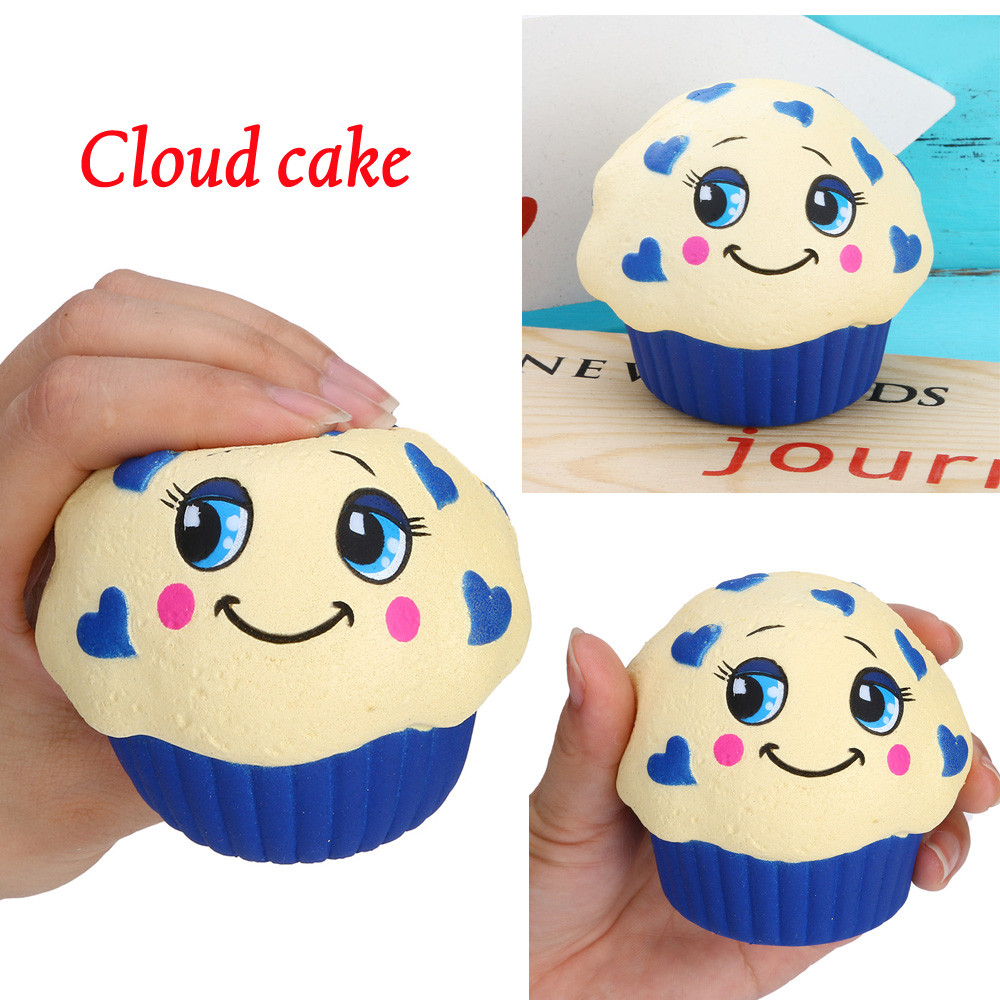 Children Anti-stress Yummy Squishy Cloud Cake Slow Rising Kawaii Squeeze Stress Reliever Charm Interesting Toys W618