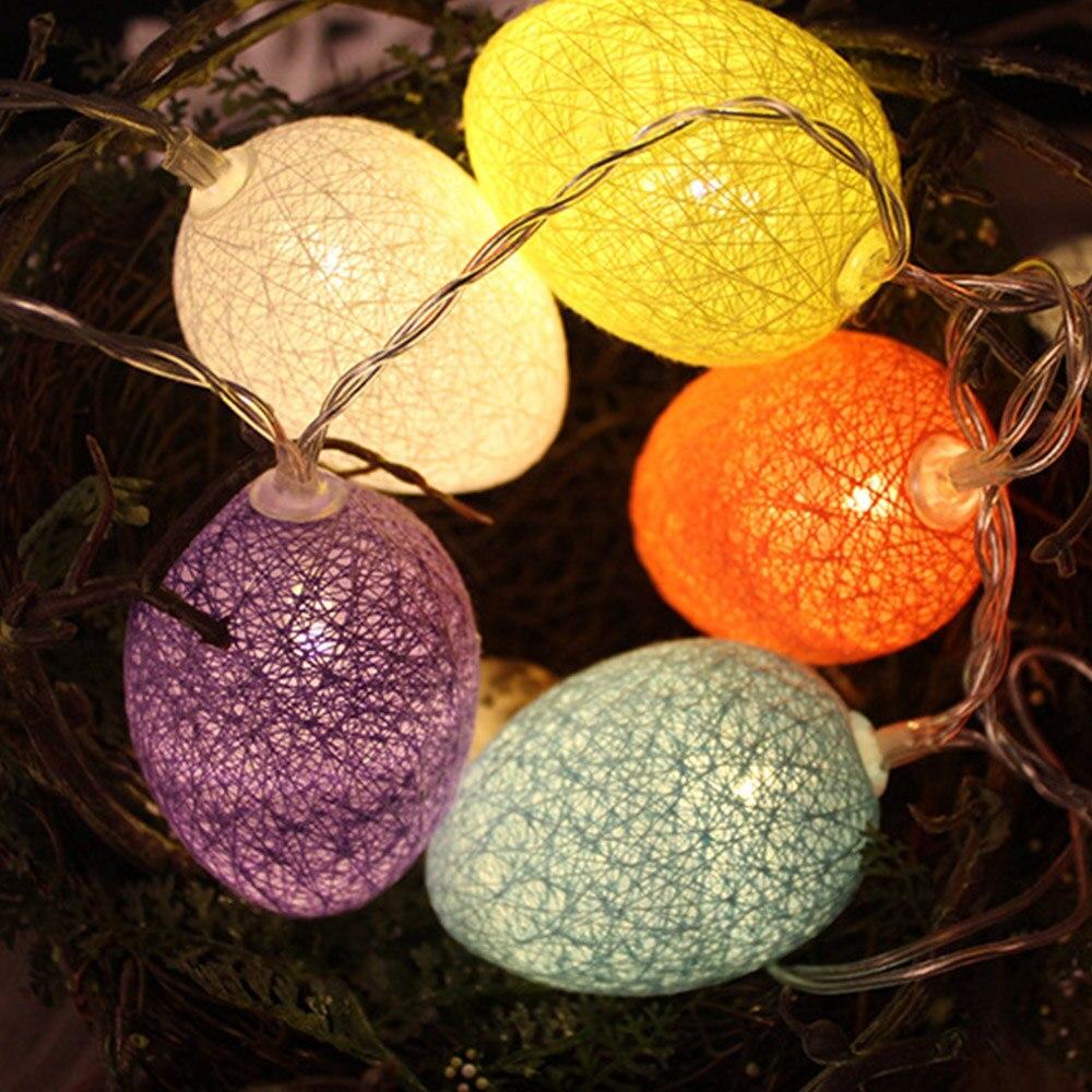 New LED Colorful Light Egg Easter Egg Easter String lights for Home Party Decorated indoor String lights 1.8/3.2/4.8m