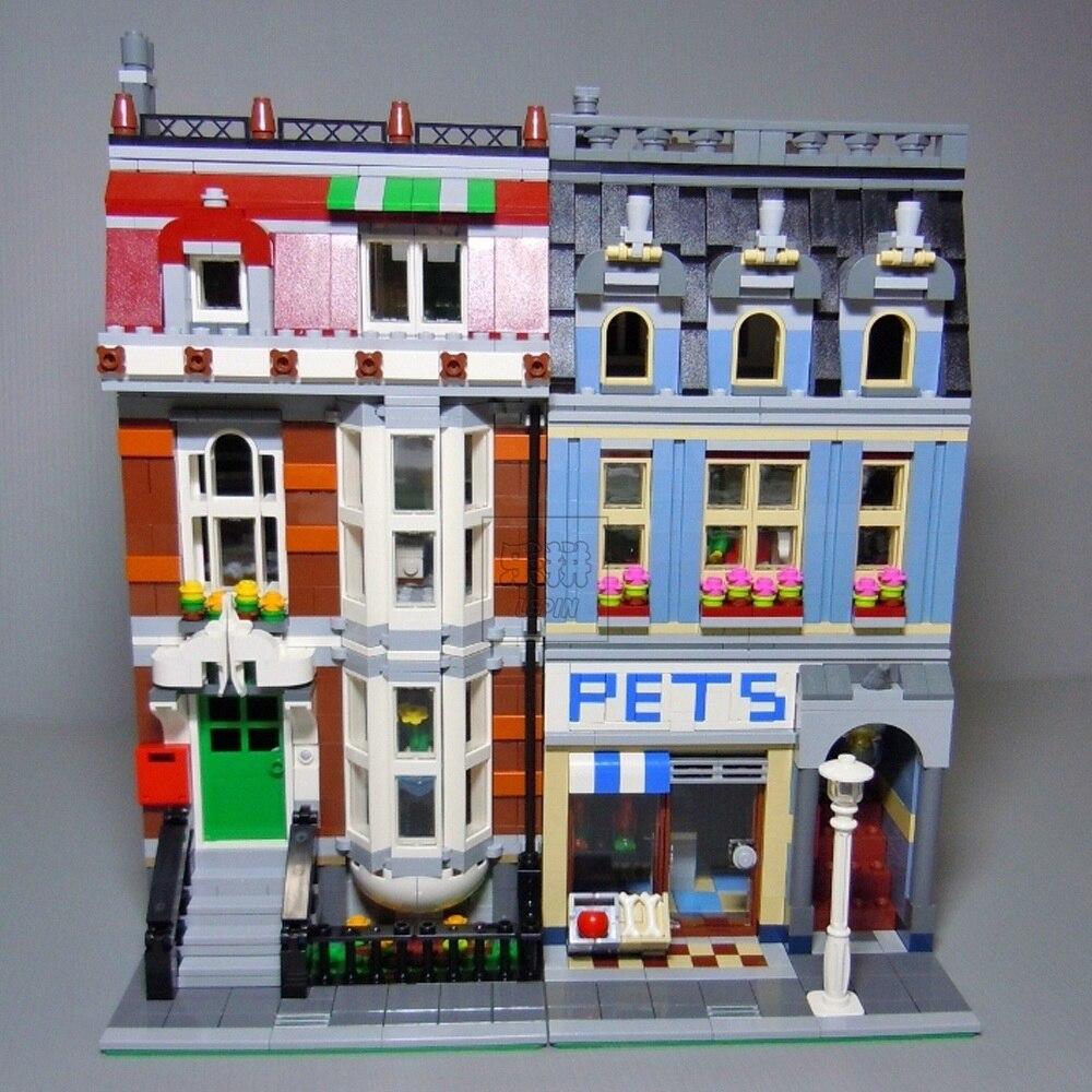15009 2082 pièces Pet Shop supermarché modèle ville rue blocs de construction Compatible legoing 10218 jouets pour enfants beau jouet