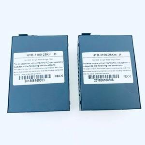 Image 5 - Convertidor de medios de fibra óptica HTB 3100, transceptor de fibra, convertidor de fibra individual de 25km SC 10/100M, 1 par