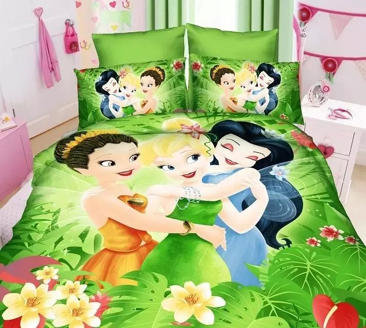 Bedding Shop For Cheap Deep Pink Princess Printed Bedding Sets Single Twin Size Bedclothes Quilt Duvet Covers Sheets Childrens Girls Home Textile 3pc Home & Garden