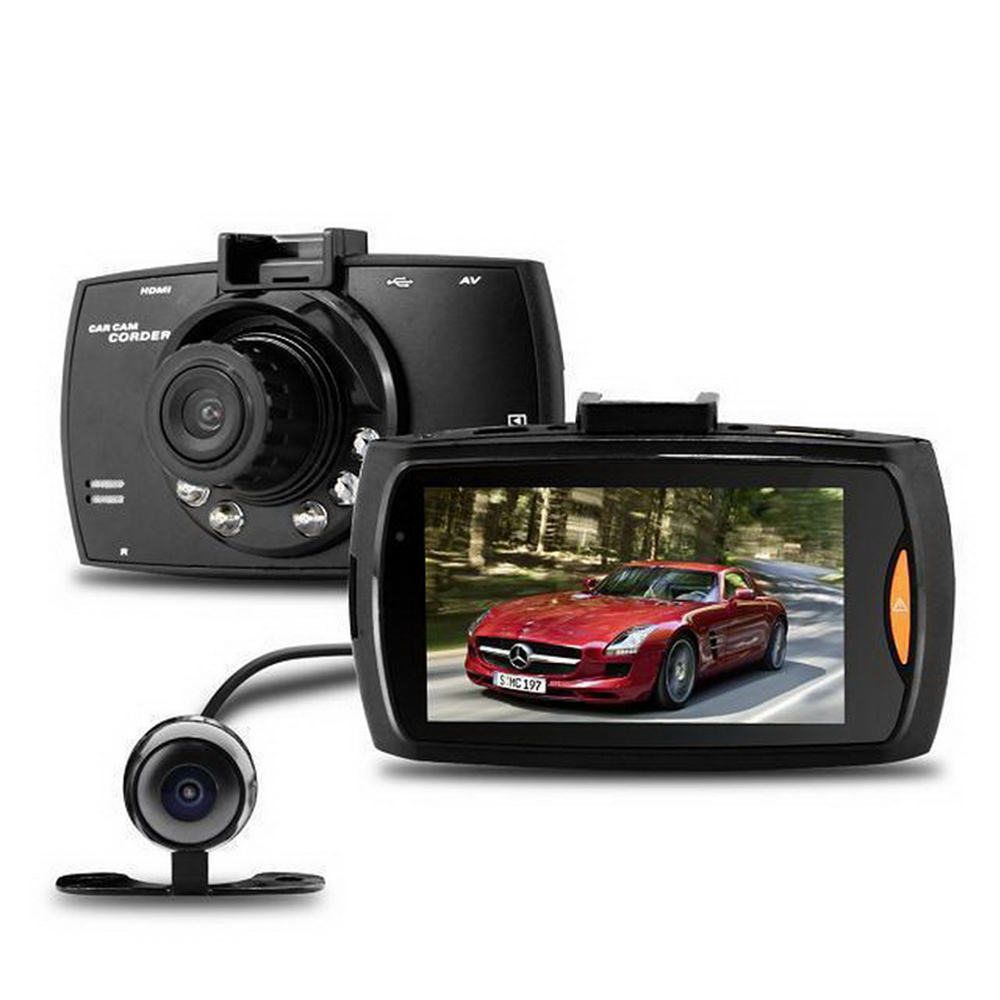 Dual Lens Dash Cam Car DVR G-sensor 2.7 inch FHD 1080P With Rear camera Vehicle Recorder Camera LCD Night Vision G30