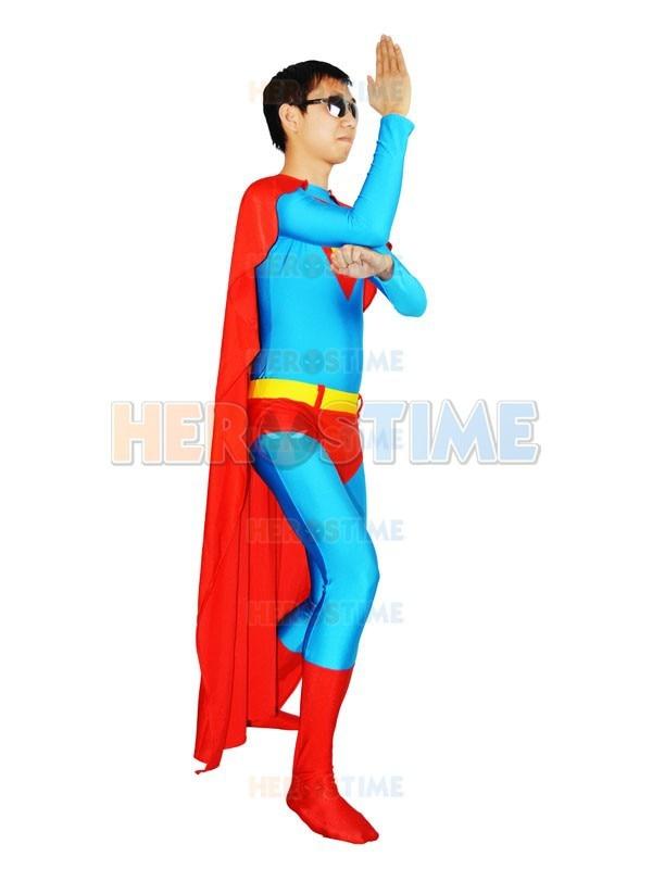 Traje azul Superman Spandex de cuerpo completo traje zentai de - Disfraces - foto 4