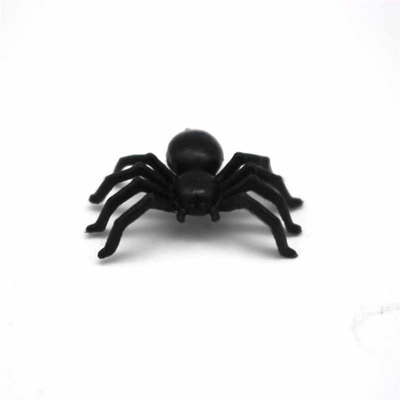 50 Pcs Plastik Hitam Spider Mainan Trik Halloween Haunted House Prop Dekorasi Natal Hari Anak Hadiah
