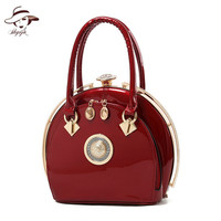 2018 New Arrival Vintage Women Wedding Bag Ladies Classic Princess Totes Shell Day Clutch Party Purse Patent Leather Handbags
