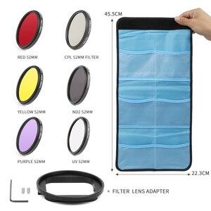 Image 4 - Atirar 52mm/58mm cpl nd filtro uv conjunto para gopro hero 7 6 5 preto 4 3 + prata ação câmera caso à prova dwaterproof água para ir pro acessórios