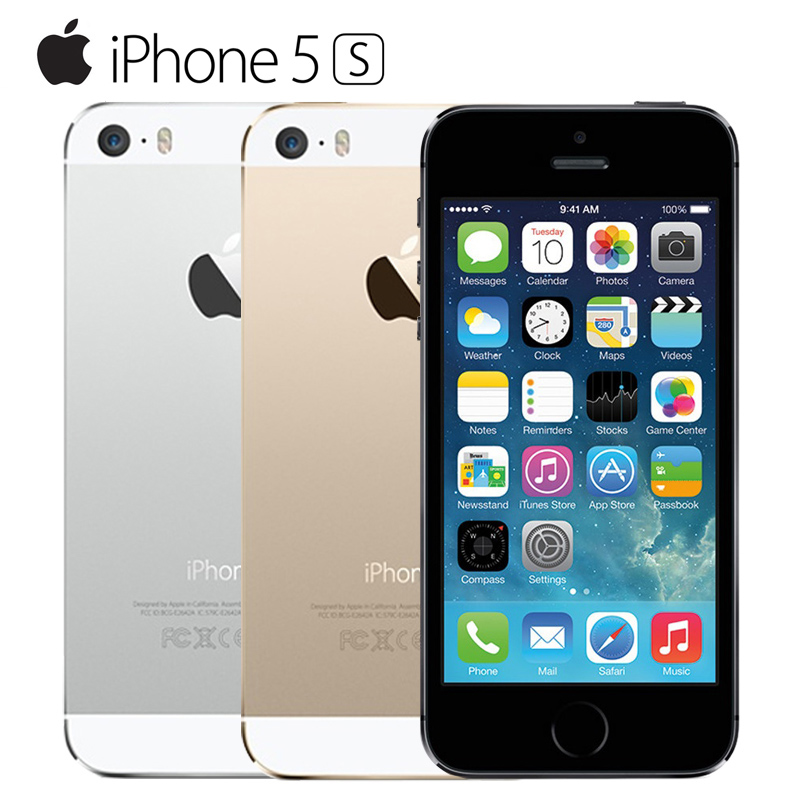 Original Unlocked Apple iPhone 5S Cell Phones iOS A7 4 0 IPS HD GPS 8MP 16GB