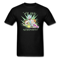 Summer Anime Rick And Morty Funny Print T Shirt Cartoon Casual Cool O Neck Short Sleeve