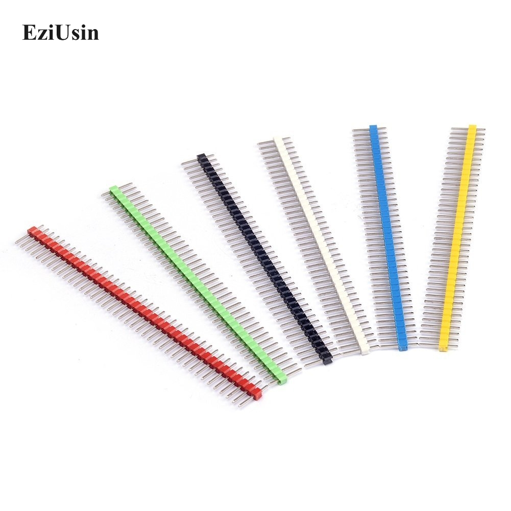 200pcs/lot 40 Pin 1x40 Single Row Male 2.54 Breakable Pin Header Connector Strip for Arduino Black Red Blue Yellow Green White