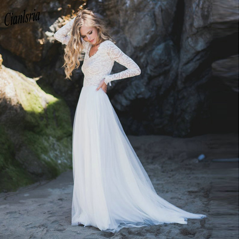 Simple Country Wedding Ideas: Simple Off The Shoulder Pleat 2019 Long Wedding Dresses