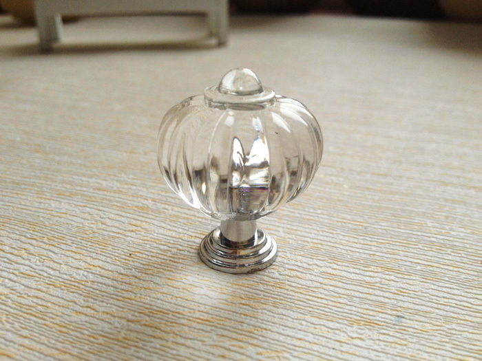 10pcs 27mm clear acrylic crystal knob drawer cabinet cupboard door handle crown shape drawer knobs
