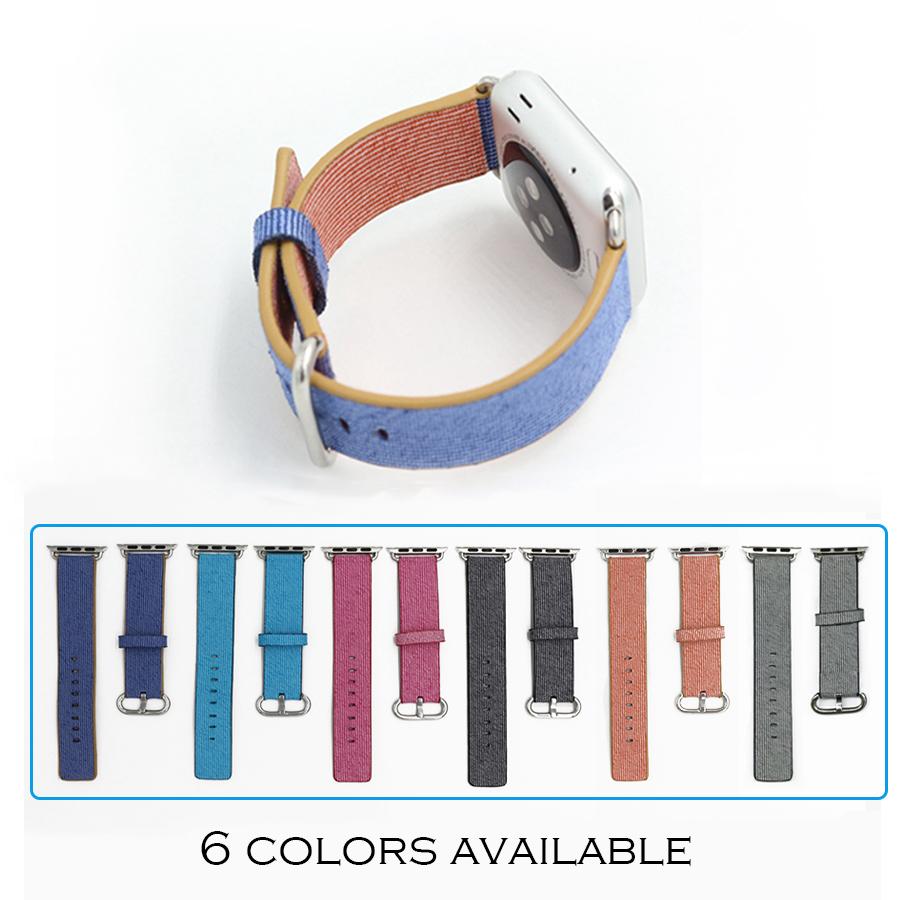Prix pour URVOI Nylon bande pour apple watch bracelet coloré de mode style avec classique boucle et adaptateurs à l'aise pour iwatch