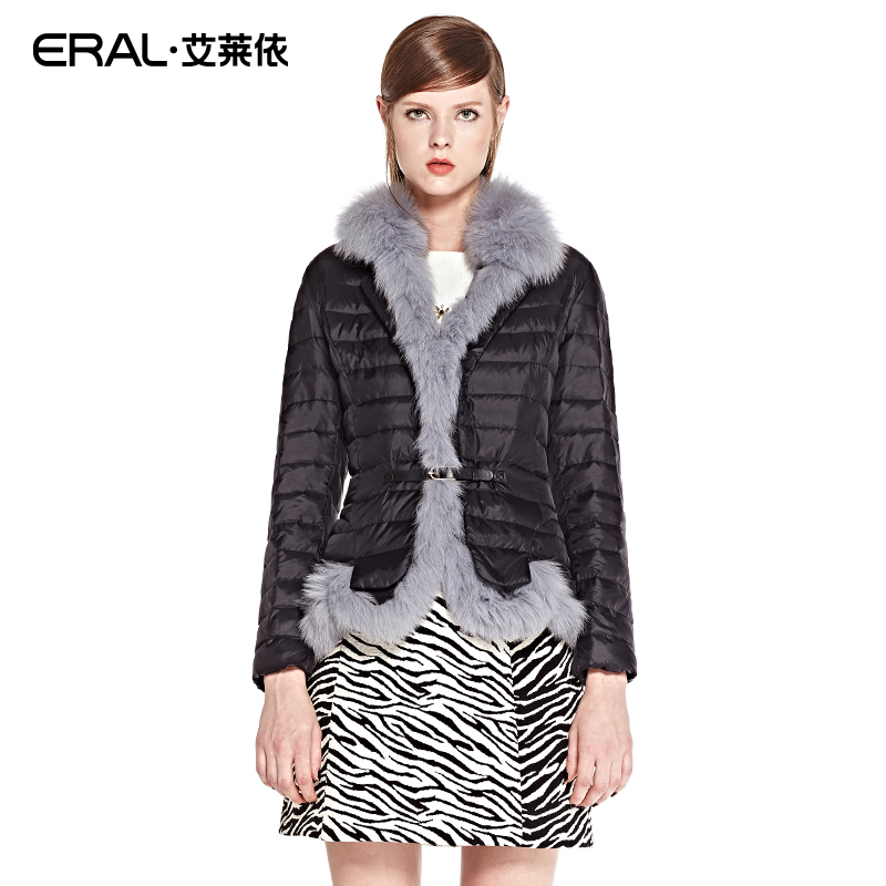 ERAL Womens Winter Parka Coat 2017 New Casual Raccoon Fur Collar Luxury Short Down Jacket Female ERAL2041C