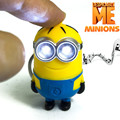 """Car styling small yellow Despicable Me Minions Keychain Bag Car Key Ring Pendant Toy Key Chain LED And Sound """"i Love U""""gift"""